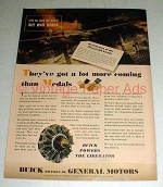 1944 WWII Buick Liberator plane Ad - More Than Medals!