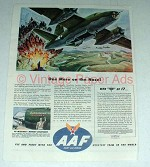 1944 WWII AAF Ad w/ B-26 The Exterminator - on Nose