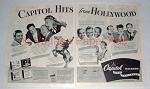 1945 Capitol Records Ad - Tex Ritter, Johnny Mercer +