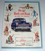 1947 Ford Car Ad - Out Front All Over the Country