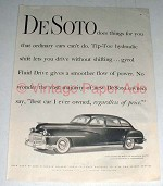 1947 DeSoto Car Ad - Things Ordinary Cars Can't Do