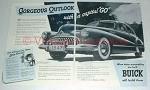 1947 Buick Car Ad - Gorgeous Outlook With Capital Go