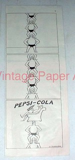 1947 Pepsi Soda Ad - Art by O. Soglow - Pepsi-Cola