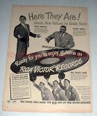 1948 RCA Victor Records Ad - Tony Martin, Count Basie