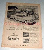 1955 Chevrolet Bel Air Sport Coupe Car Ad - Plenty Beef