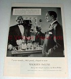 1956 Walker's Deluxe Whiskey Ad w/ Basil Rathbone
