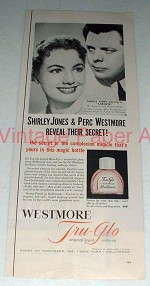 1956 Westmore Tru-glo Makeup Ad w/ Shirley Jones