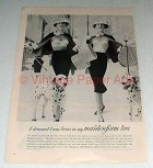 1956 Maidenform Pre-Lude Six-Way Bra Ad - Twins!