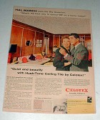 1958 Celotex Ceiling Tile Ad w/ Hal March