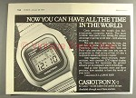1977 Casio Casiotron X-1 Watch Ad - Time in the World