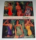 1961 Catalina Swimsuit Ad - Accent, Woodland, East Wind