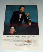 1964 Heublein Cocktails Ad w/ Michael Rennie