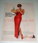 1964 Smirnoff Vodka Ad w/ Julie London