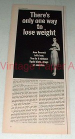 1964 Ayds Plan Weight Loss Ad w/ Joan Bennett