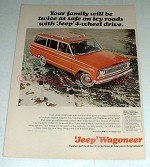 1965 Jeep Wagoneer Ad - Twice As Safe on Icy Roads