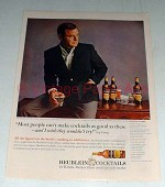 1965 Heublein Cocktails Ad w/ Gig Young