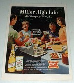 1965 Miller High Life Beer Ad - Champagne of Beer