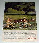 1965 Honda Trail 90 Motorcycle Ad - Nicest People!