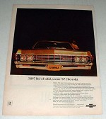 1967 Chevrolet Impala Sport Coupe Car Ad - Solid