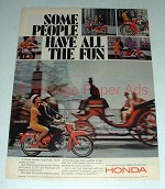 1966 Honda Motorcycle Ad - Some People Have Fun