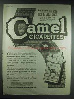 1920 Camel Cigarettes Ad - Sure As You Are a Foot High