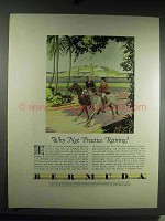 1931 Bermuda Tourism Ad - Why Not Practice Retiring