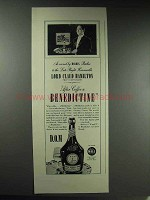 1937 D.O.M. Benedictine Liqueur Ad - Served by Butler