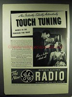 1937 General Electric Touch Tuning Radio Ad - Instantly