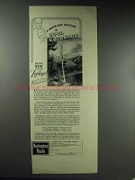1937 Burlington Route Railroad Ad - Cool Colorado