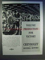 1942 Chevrolet Ad - Volume Production for Victory