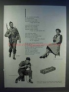 1942 Beech-Nut Gum Ad - I Am With That Tired Soldier