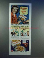 1942 Nabisco Shredded Wheat Ad - Mothers in War Too
