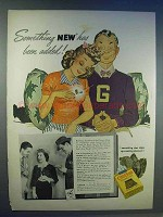 1942 Old Gold Cigarettes Ad - Something New Added