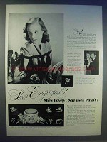 1942 Pond's Cold Cream Ad - She's Engaged!