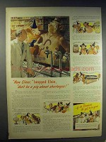 1943 Borden's Milk Ad - Now Elmer, Begged Elsie