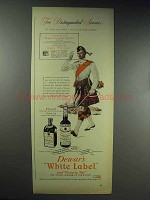 1944 Dewar's White Label Scotch, Victoria Vat Ad