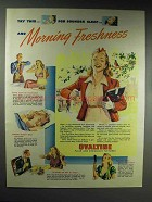 1945 Ovaltine Drink Ad - Morning Freshness