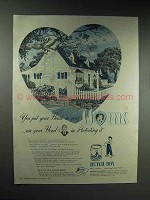 1946 Dutch Boy Paint Ad - You Put Your Heart in Home
