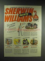 1946 Sherwin-Williams Paint Ad - Homes Best Friends