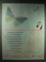 1947 De Beers Diamond Ad - Butterfly on Dancing Wings