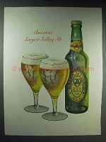 1947 Ballantine's Ale Ad - America's Largest Selling