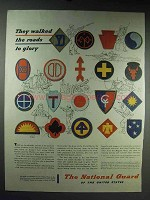1947 National Guard Ad - Insignia - The Roads to Glory