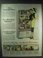 1947 Kelvinator Refrigerator Advertisement - Frozen Food Chest