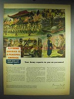 1948 Army Ad - A Strong America is a Peaceful America