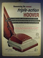 1950 Hoover Triple-Action Vacuum Cleaner Ad