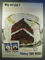 1950 Pillsbury Cake Mix Ad - Why Not You?