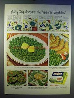 1950 Birds Eye Frozen Green Peas Ad - Thrifty Tilly