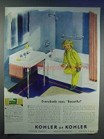 1950 Kohler of Kohler Bathroom Fixtures & Fittings Ad