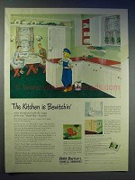 1951 Dutch Boy Paint Ad - Kitchen is Bewitchin'