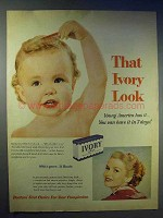 1954 Ivory Soap Ad - The Ivory Look